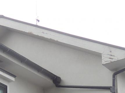 破風板塗装のはがれ