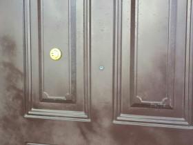 ドアの塗装剥げ