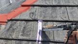 屋根クラック部 コーキング処理