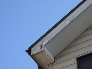 塗装工事と破風板の板金巻き