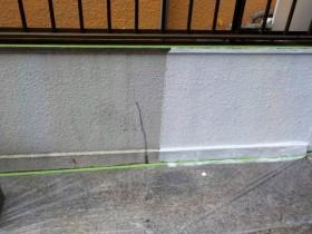 門塀 下塗り